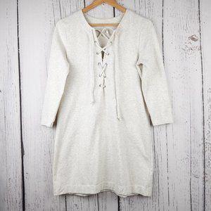 Free People Front Criss Cross Sweatshirt Dress Sm